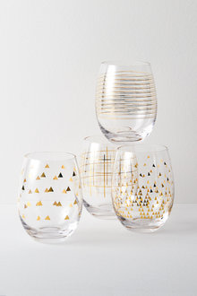 Celebration Stemless Wine Glasses Set of Four Assorted - 227198