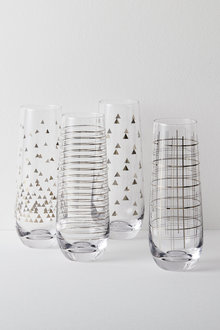 Celebration Stemless Champagne Flutes Set of Four Assorted - 227199