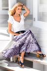 Heine Tiered Print Maxi Skirt