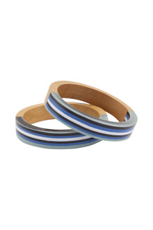 Amber Rose Solstice Stripe Bangle