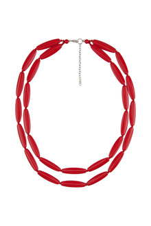 Amber Rose Festive Double Strand Necklace