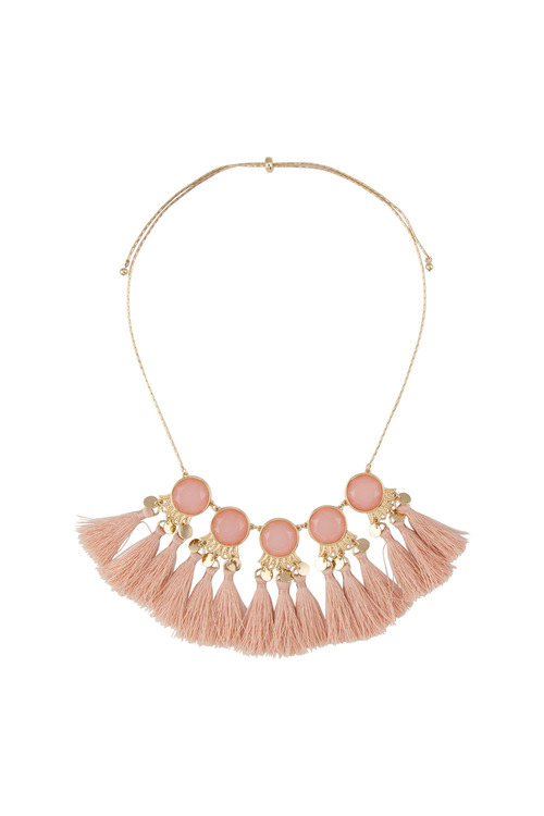 Amber Rose New Naturals Facet Statement Necklace