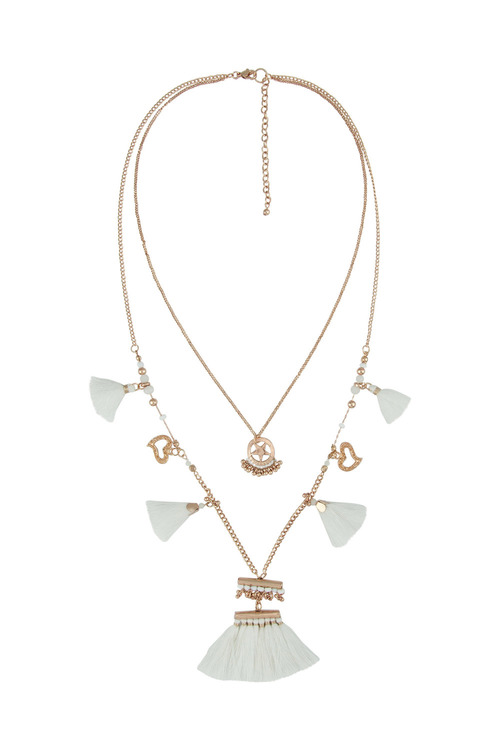Amber Rose Totem Two Strand Necklace