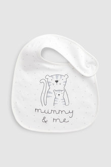 Next Mummy And Daddy Character Regular Bibs Two Pack