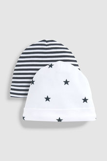 Next Hippo Character Beanies Two Pack (0-18mths)
