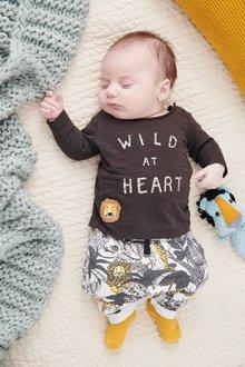 Next Wild At Heart T-Shirt And Joggers Set (0mths-2yrs)