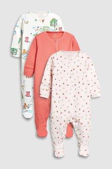 Next Farm Animal Sleepsuits Three Pack (0mths-2yrs)