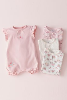 Next Floral Rompers Four Pack (0mths-2yrs)