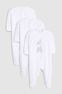 Next Delicate Animals Sleepsuits Three Pack (5-12mths)