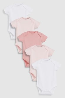 Next Short Sleeve Bodysuits Five Pack (0mths-3yrs)