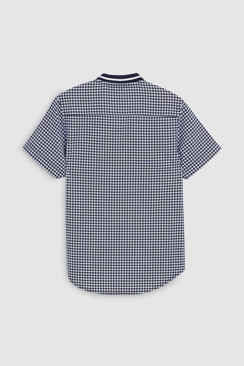 Next Short Sleeve Gingham Baseball Shirt (3-16yrs)