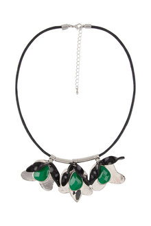 Amber Rose Festive Floral Necklace - 227427