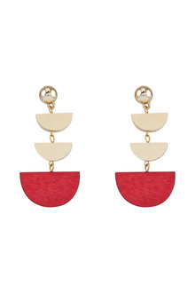 Amber Rose Half Moon Drop Earrings