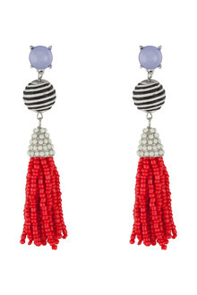 Amber Rose Coachella Tassel Drop Earrings