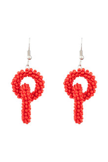 Amber Rose Festive Seed Bead Earrings