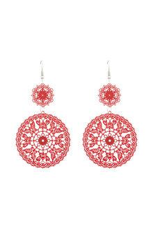 Amber Rose Highlands Stamped Earrings