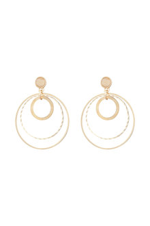 Amber Rose New Naturals Circle Drop Earrings