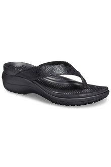 Crocs Capri MetallicTxt Wedge Flip - 227495