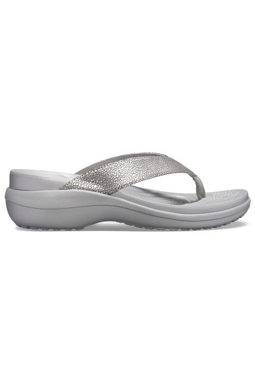 Crocs Capri MetallicTxt Wedge Flip