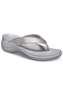 Crocs Capri MetallicTxt Wedge Flip