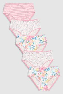 Next Floral Briefs Five Pack (1.5-12yrs)