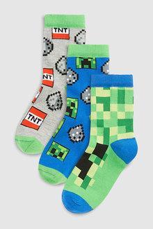 Next Minecraft Socks Three Pack (Older)