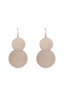 Amber Rose Stamped Double Circle Earrings