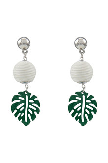 Amber Rose Palm Leaf Drop Earring