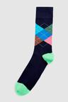 Next Bright Argyle Socks