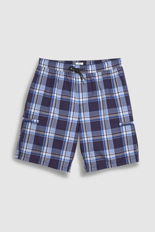 Next Checked Seersucker Swim Shorts