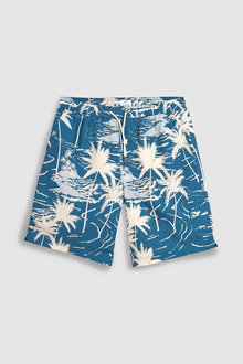 Next Washed Hawaiian Swim Shorts