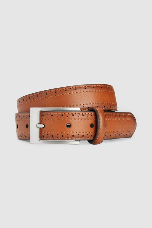 Next Brogue Detail Belt