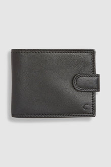 Next Monogram Leather Extra Capacity Wallet