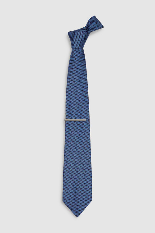 Next Textured Ties Two Pack Tie With Tie Clip