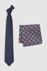 Next Signature Tie With Pattern Pocket Square Set