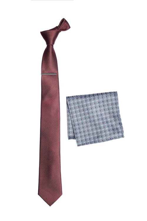 Next Tie With Pattern Pocket Square Set