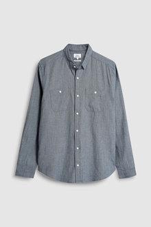 Next Chambray Twill Long Sleeve Shirt