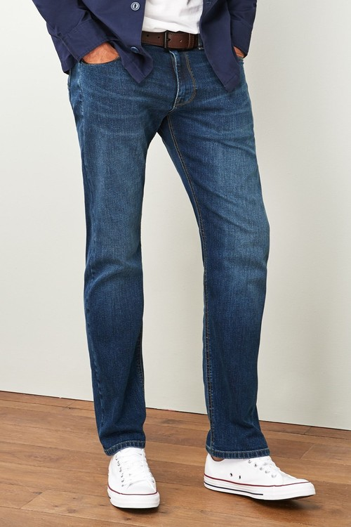Next Belted Jeans-Straight Fit