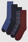 Next Signature Pattern Bamboo Socks Four Pack