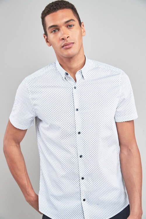 Next Mini Paisley Short Sleeve Shirt