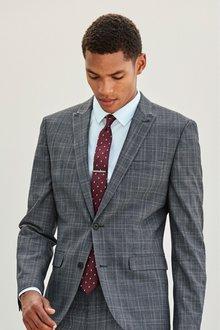 Next Slim Fit Check Suit: Waistcoat - 227863