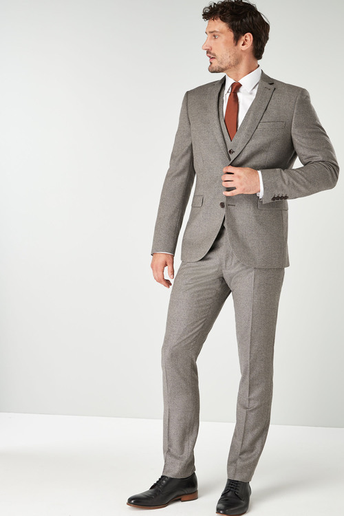 Next Signature British Wool Suit: Jacket-Slim Fit