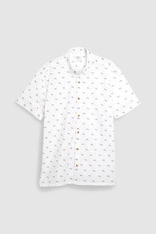 Next Short Sleeve Tiger Print Shirt