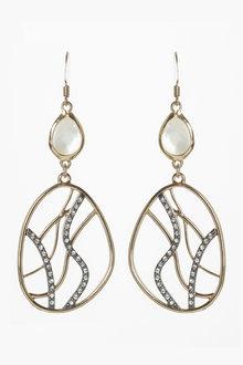 Next Sparkle Detail Drop Earrings