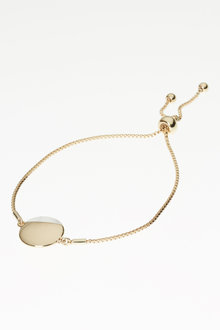 Next Mother Of Pearl Detail Disc Bracelet