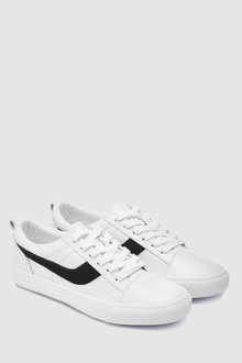 Next Leather Lace-Up Trainers