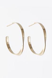 Next 18 Carat Gold Plated Sterling Silver Hoop Earrings