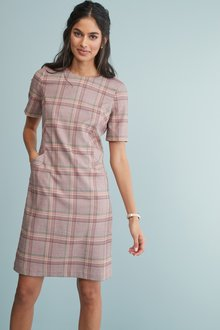 Next Check Shift Dress-Tall