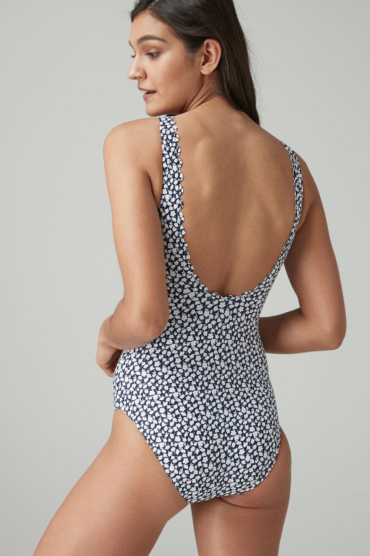 40183882795f2 Next Ditsy Floral Scallop Swimsuit Online   Shop EziBuy