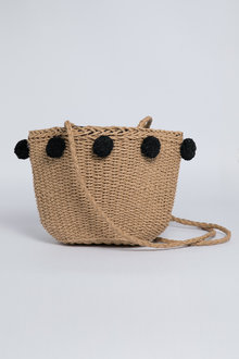 Pom Pom Woven Bag